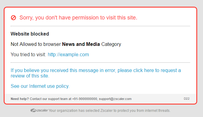 Zsclaer website blocked