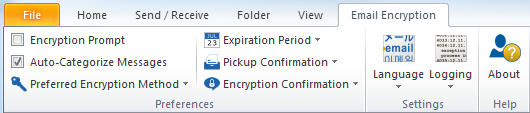 Echoworx encryption Outlook Plug-in