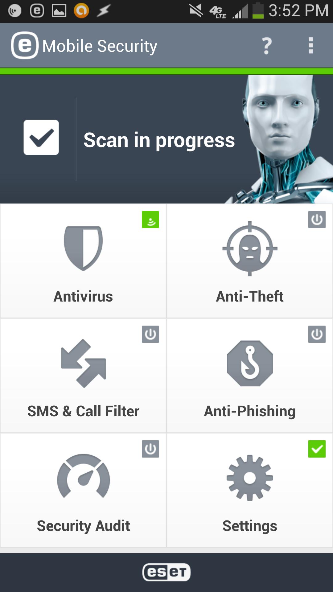 ESET Mobile security screenshot