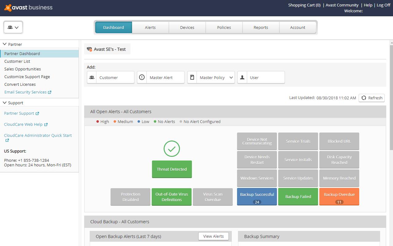 avast cloudcare management portal