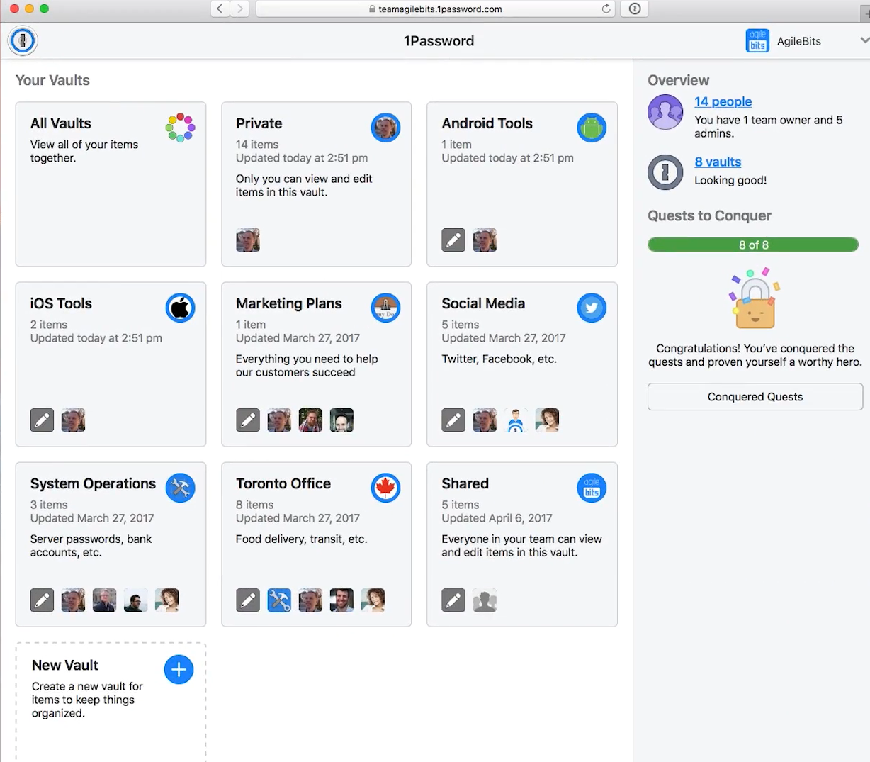 1Password vault manager for teams