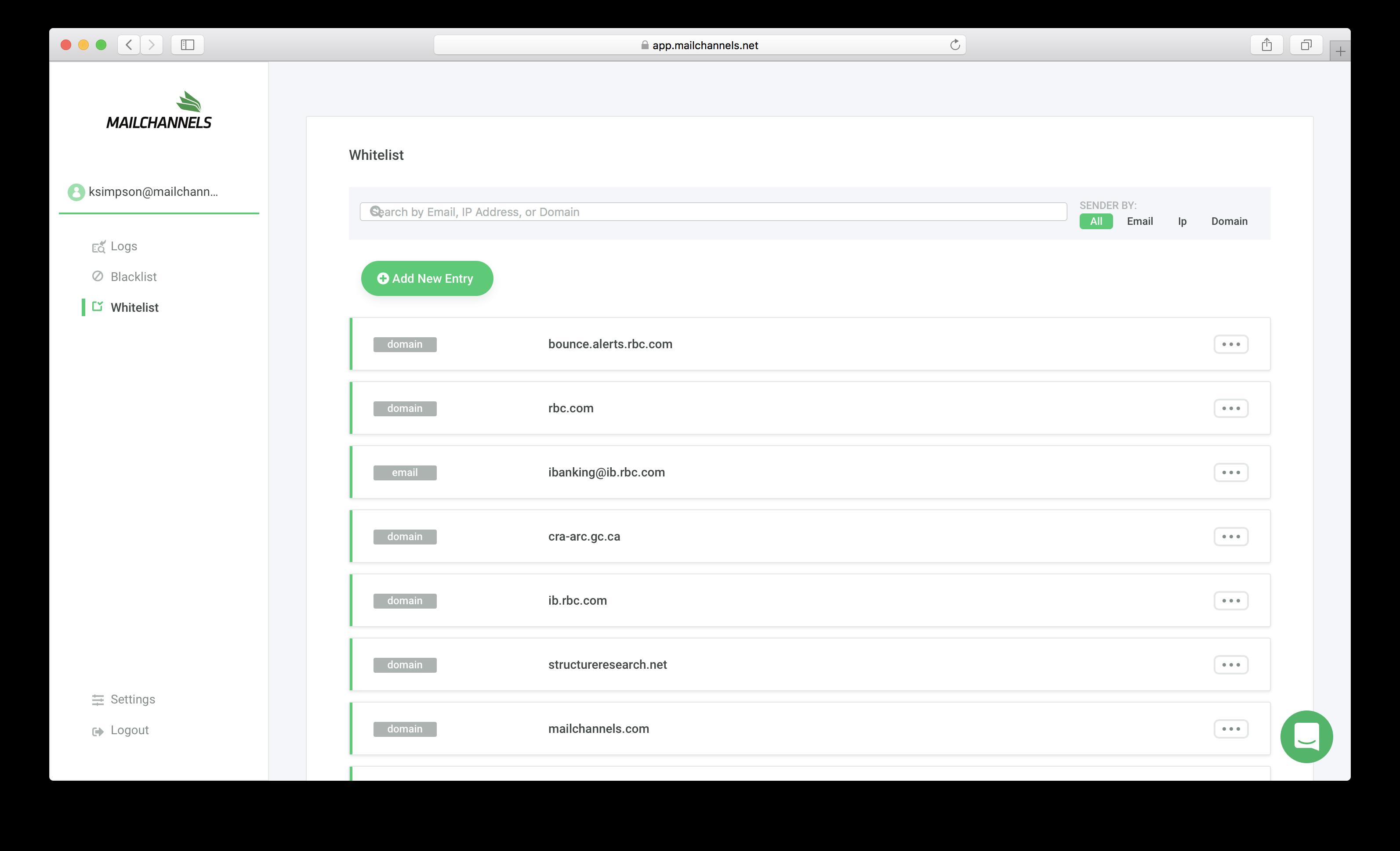 mailchannels dashboard