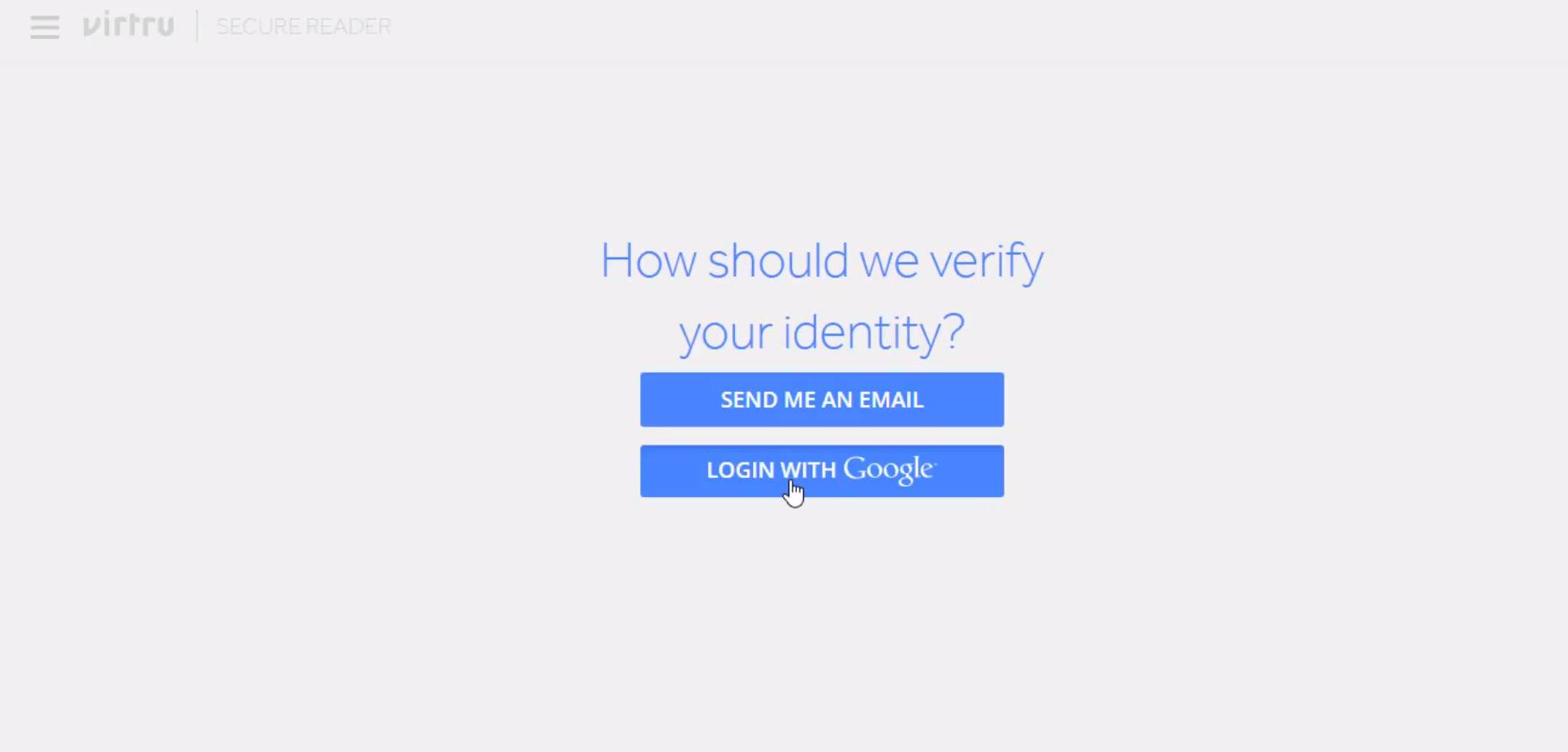 Verying recipient identity using Virtru