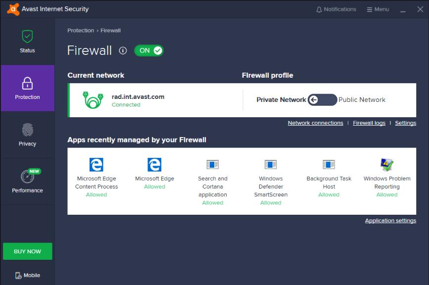 Avast antivirus firewalls